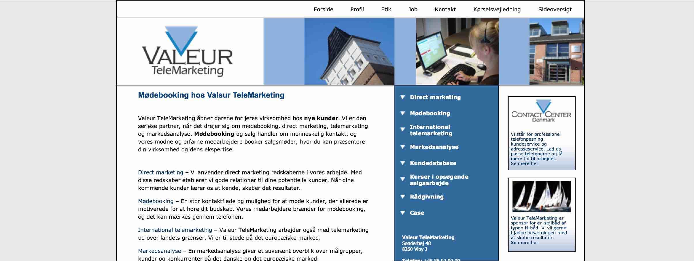 Valeurs hjemmeside fra 2005.